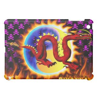 Dragón rojo con su nombre en llamas