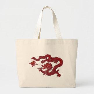 Dragón rojo de la cera bolsas de mano