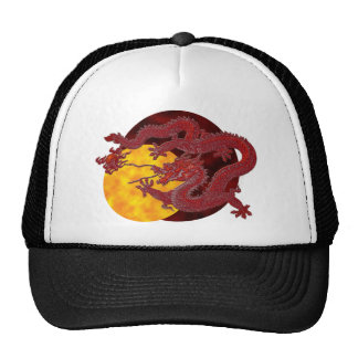 Dragón rojo de la cera gorras