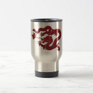 Dragón rojo de la cera taza de viaje