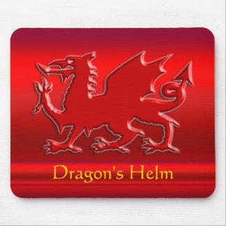 dragón rojo de la Grabar en relieve-mirada en crom Alfombrilla De Raton