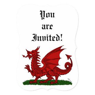 Dragón rojo de la invitación de País de Gales
