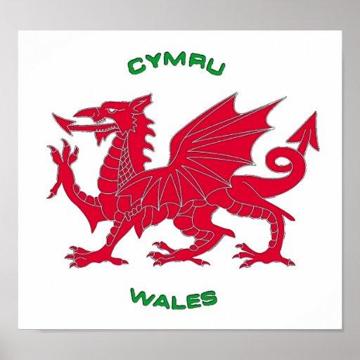 Dragón rojo de País de Gales (Cymru), parte poster