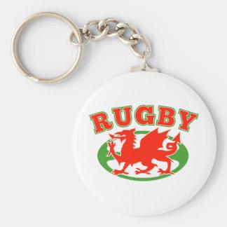 dragón rojo de País de Gales galés de la bola de r Llaveros Personalizados