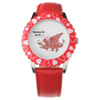 Dragón rojo de País de Gales Relojes De Pulsera