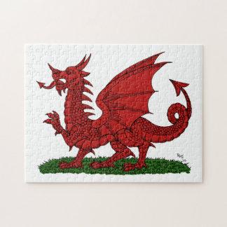 Dragón rojo del rompecabezas de País de Gales