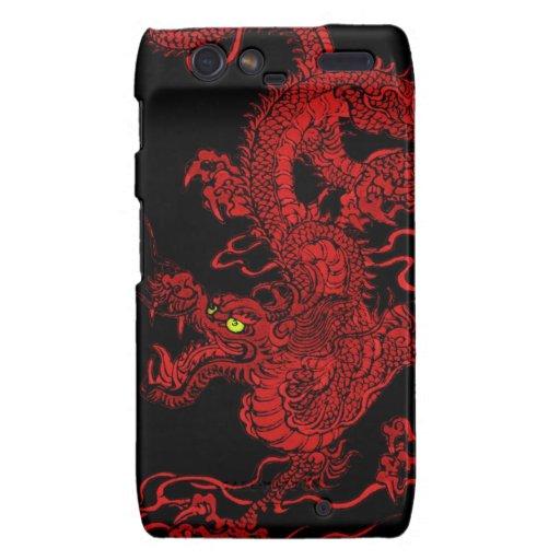 Dragón rojo droid RAZR carcasa