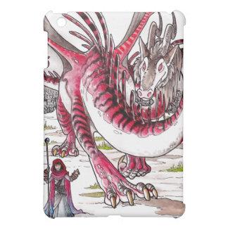 Dragón rojo en nieve de deshielo