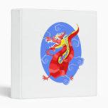 Dragón rojo enojado asiático