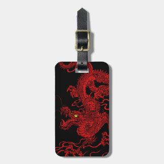 Dragón rojo etiquetas maletas