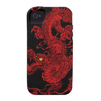 Dragón rojo iPhone 4 fundas