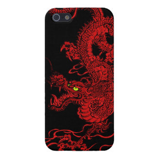 Dragón rojo iPhone 5 cárcasa