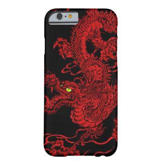 Dragón rojo funda para iPhone 6 barely there