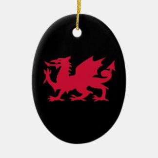 Dragón rojo Galés Ornamentos Para Reyes Magos