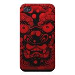 dragón rojo iPhone 4 protectores