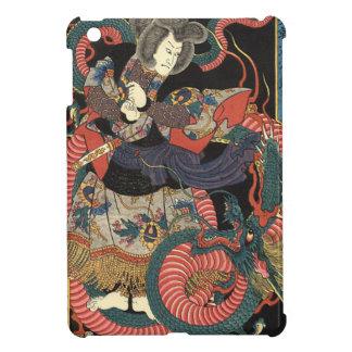 Dragón rojo japonés del vintage