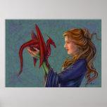 Dragón rojo joven poster