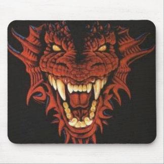 Dragón rojo Mousepad