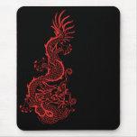Dragón rojo Mousepad Alfombrilla De Ratones