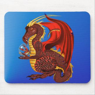 Dragón rojo Mousepad de la fortuna Alfombrilla De Raton