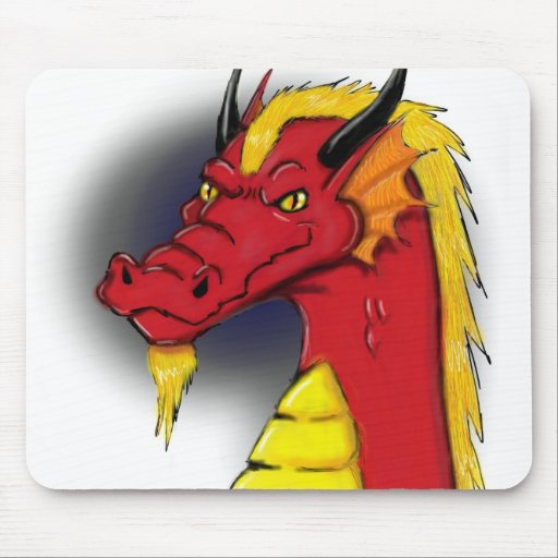 Dragón rojo Mousepad Tapetes De Raton