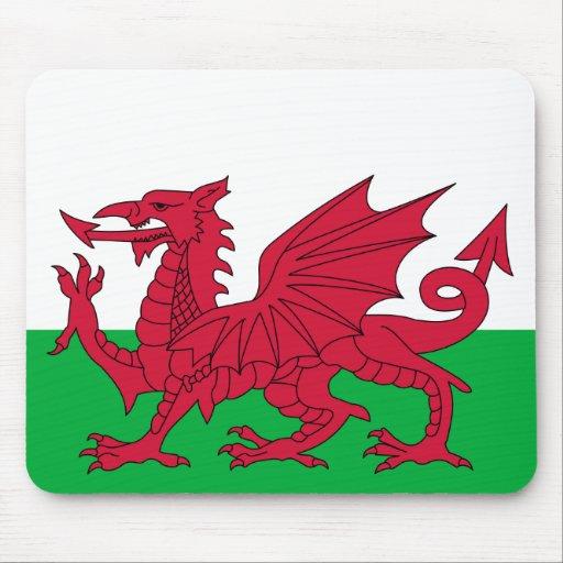 Dragón rojo patriótico de País de Gales Mousepad Alfombrillas De Ratón