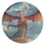 Dragón rojo plato