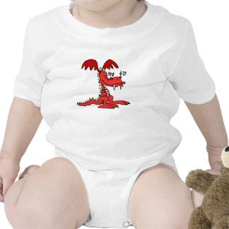 Dragón rojo traje de bebé