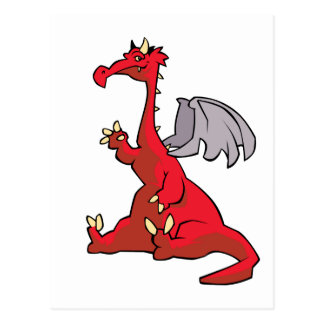 Dragón rojo postales
