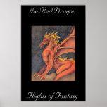 Dragón rojo posters