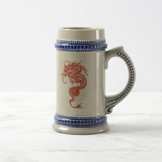 Dragón rojo Stein Jarra De Cerveza