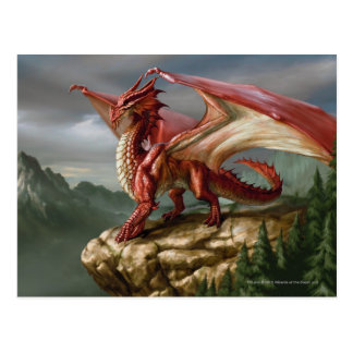 Dragón rojo postal