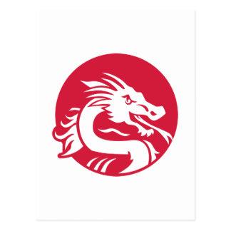 Dragón rojo tarjetas postales