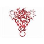 Dragón rojo tarjeta postal
