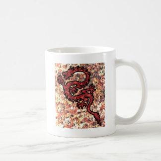 Dragón rojo taza