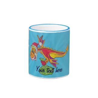 Dragón rojo taza de dos colores
