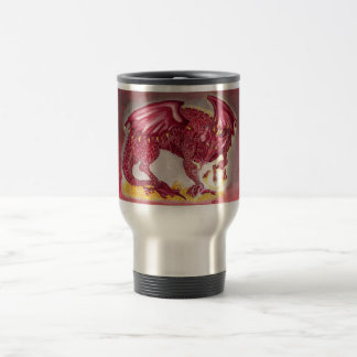 Dragón rojo taza de viaje