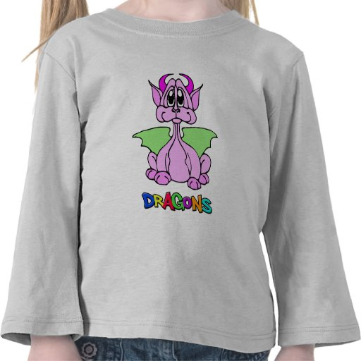 Dragón rosado camiseta