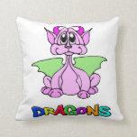 Dragón rosado cojines