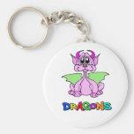 Dragón rosado llaveros personalizados