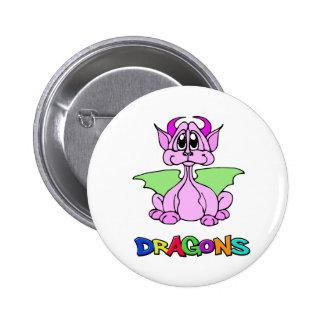 Dragón rosado pins