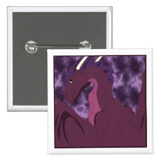 Dragón rosado y púrpura fresco pin