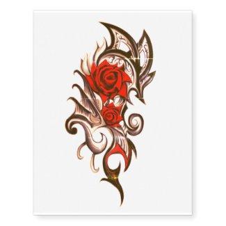 dragon rose temporary tattoo