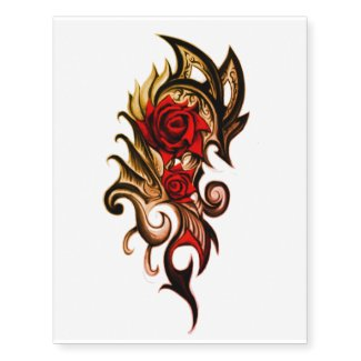 dragon rose temporary tattoo