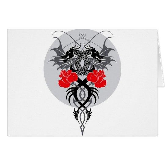 Dragon Roses Card