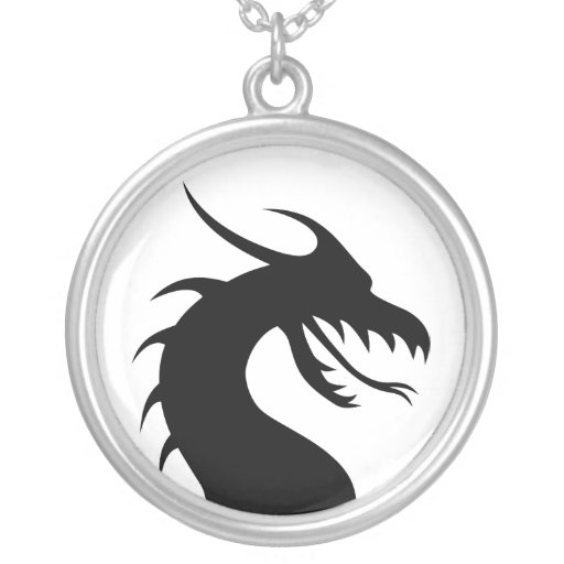dragon round pendant necklace