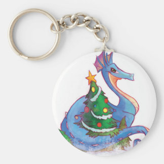 Dragon Round the Christmas Tree Keychains