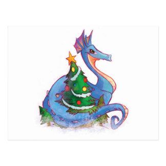 Dragon Round the Christmas Tree Postcard