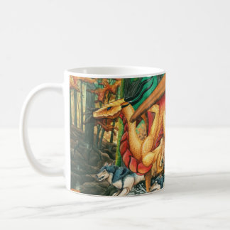 Dragon Running with Wolves by Carla Morrow Coffee Mug