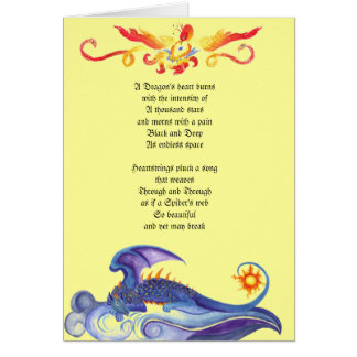 Dragon s heart poem card